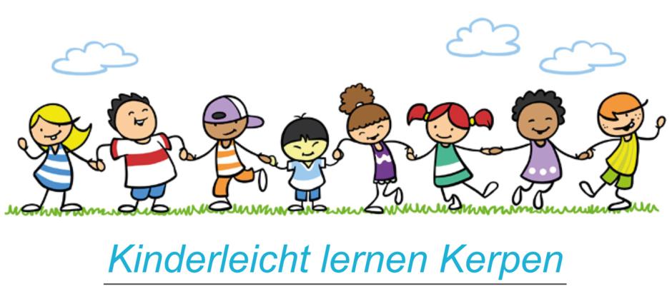 Logo Kinderleicht Lernen Kerpen - Zeichnung tanzende Kinder